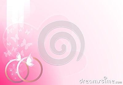 Pink wedding background