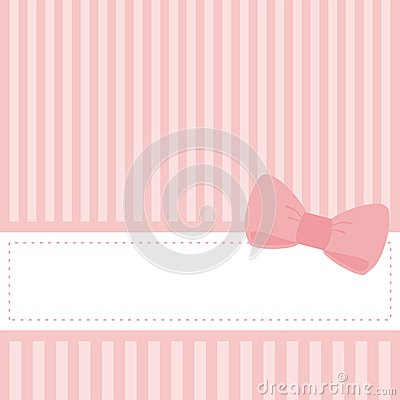 Free Pink Wedding Card Or Baby Shower Vector Invitation Stock Images - 25255034