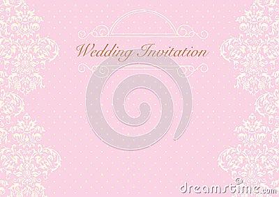 Pink Wedding Cards Background Pink Wedding Invitatio...