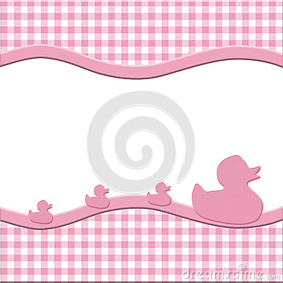 Pink and White Baby Frame for your message