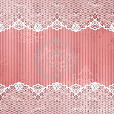 Pink And White Background With Lace Stock Photo - Image ...