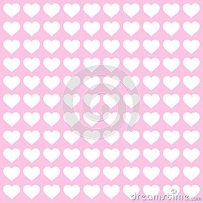 Rosa und Weiße Herz-M...
