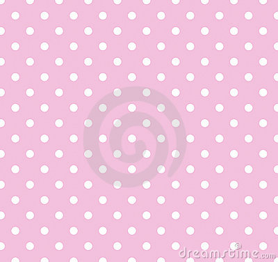 Pink with white polka dots