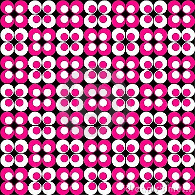 Pink & White Retro Pattern