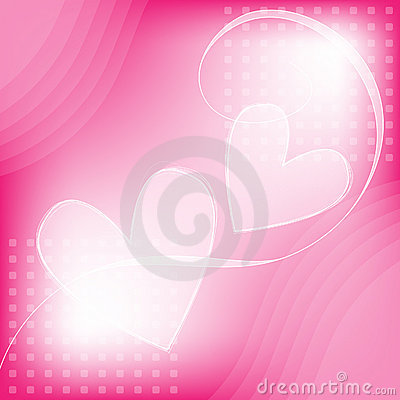 Pink and white romantic heart background