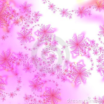 Pink and White Star Abstract Background