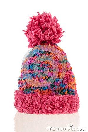 Knitted winter bonnet