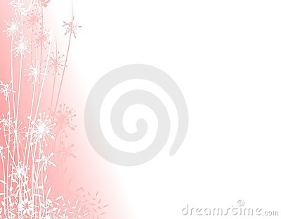 Pink Winter Garden Silhouette