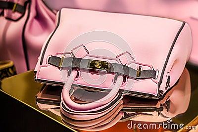 Pink woman hand bag