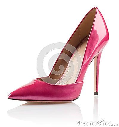 Free Pink Woman High Heel Shoe Royalty Free Stock Images - 45309289
