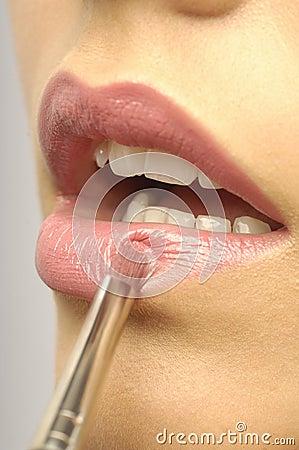 Pink woman Lips