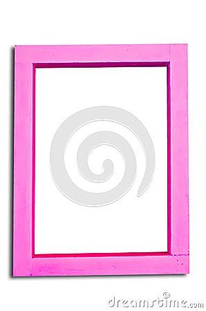 Pink wooden frame