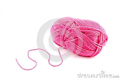 Pink wool bal