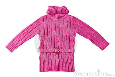 Pink wool sweater