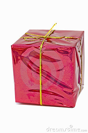 Pink wrapped present