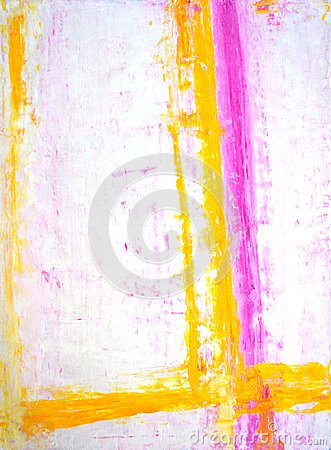 Pink and Yellow Abstract Art Painting