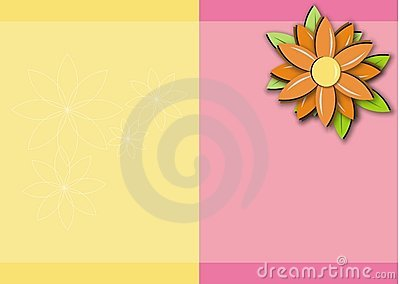 Pink Yellow Orange Daisy Background Frame