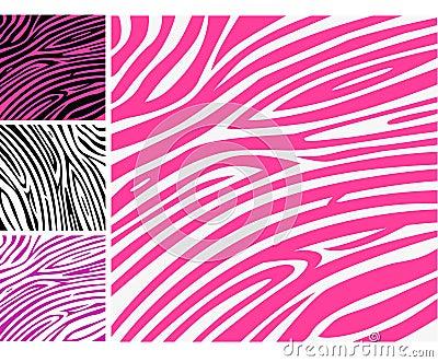 Pink zebra skin animal print pattern