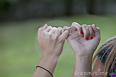 Pinkie Promise linked fingers