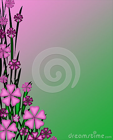 Free Pinkish Purple And Green Floral Stationery Background Wallpaper Stock Photo - 28887100