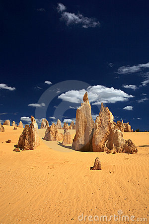Free Pinnacles Desert,West Australia Royalty Free Stock Images - 15107549