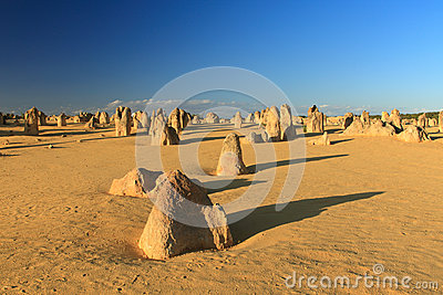 Pinnacles Desert,Western Australia Editorial Stock Photo