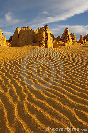 The Pinnacles of the Nambung National Park, Wester