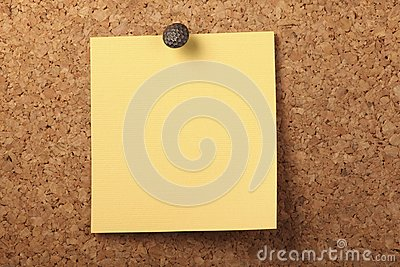 Pinned Yellow notepaper