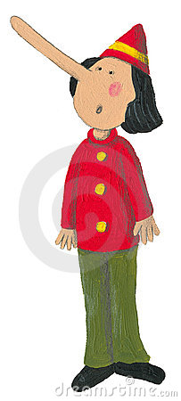 Pinocchio With Big Nose Stock Images Image 14399854