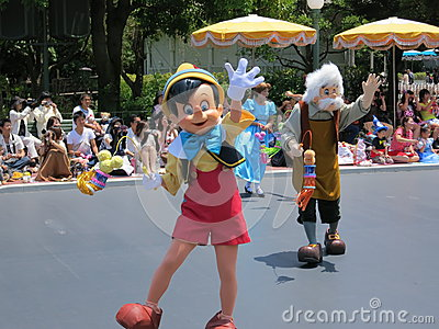 Pinocchio in Disneyland Parade Editorial Photo