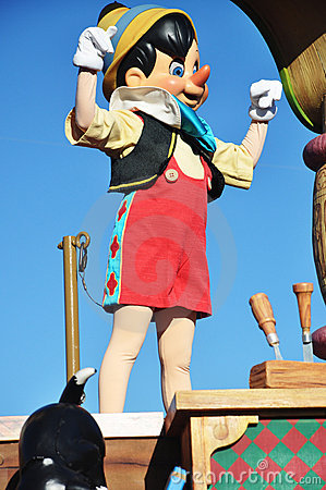 Pinocchio in A Dream Come True Celebrate Parade Editorial Stock Image