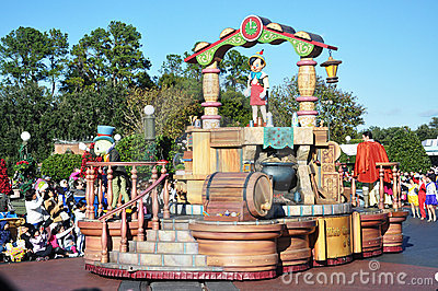 Pinocchio Parade Float in Disney World Orlando Editorial Image