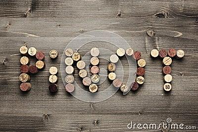 PINOT written with cork