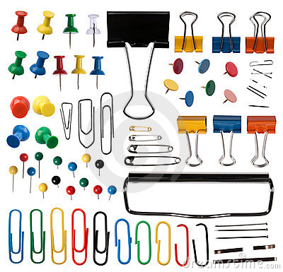 Free Pins And Paper Clips Collection Stock Photography - 22665792