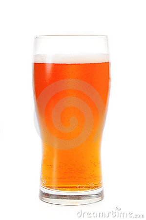 A pint of amber ale