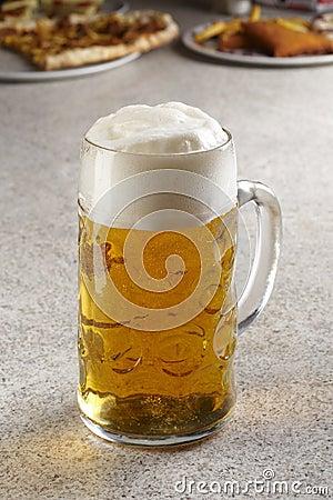 Pint of fresh beer