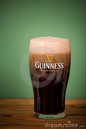 Pint of Guinness Editorial Stock Photo
