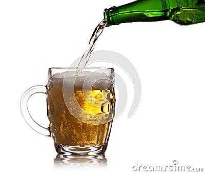 Pint mug of beer