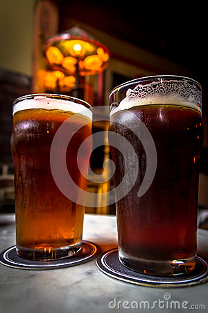 Free Pints Of Beer Royalty Free Stock Image - 59985406