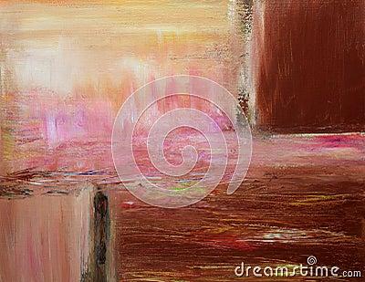 Pintura abstracta contemporánea caliente