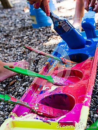 Pintura dos miúdos
