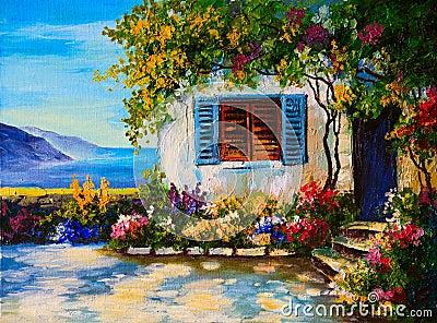 Resultado de imagem para casas bonitas pinturas a oleo
