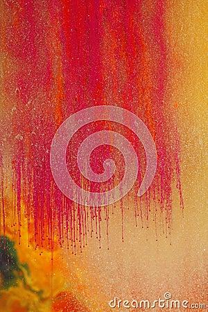 Pinturas de agua magentas anaranjadas
