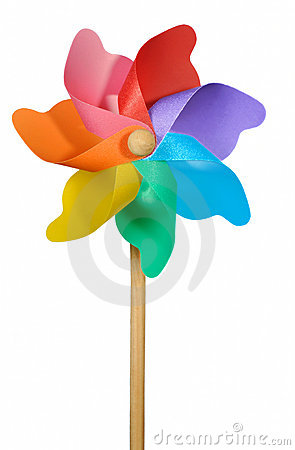 Pinwheel or Windmill on White