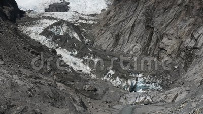 Pionowo niecka lodowiec przy Franz Josef zdjęcie wideo