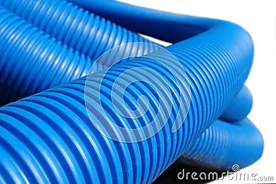 Pipe en plastique ondulée