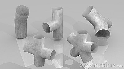 Pipe joints set