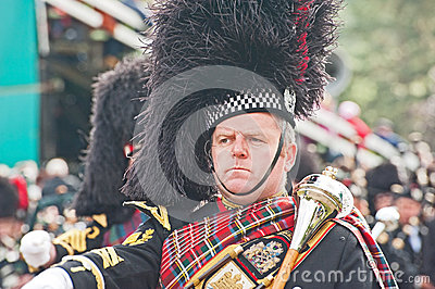 Pipe Major at Braemar Royal Gathering Editorial Stock Photo