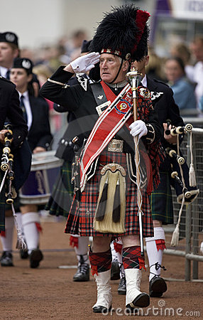 Pipe Major at the Cowal Gathering in Scotland Editorial Image