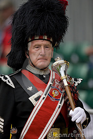 Pipe Major at the Highland Games in Scotland Editorial Stock Photo
